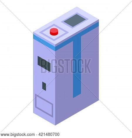 Mammography Machine Pc Icon. Isometric Of Mammography Machine Pc Vector Icon For Web Design Isolated