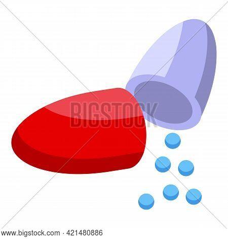 Capsule Antibiotic Resistance Icon. Isometric Of Capsule Antibiotic Resistance Vector Icon For Web D