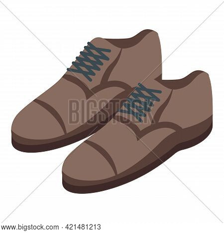 Classic Shoes Donation Icon. Isometric Of Classic Shoes Donation Vector Icon For Web Design Isolated