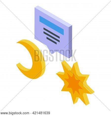 Task Schedule Day Night Icon. Isometric Of Task Schedule Day Night Vector Icon For Web Design Isolat