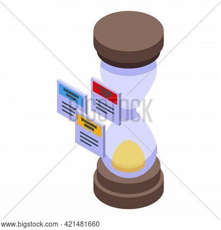 Task Schedule Hourglass Icon. Isometric Of Task Schedule Hourglass Vector Icon For Web Design Isolat