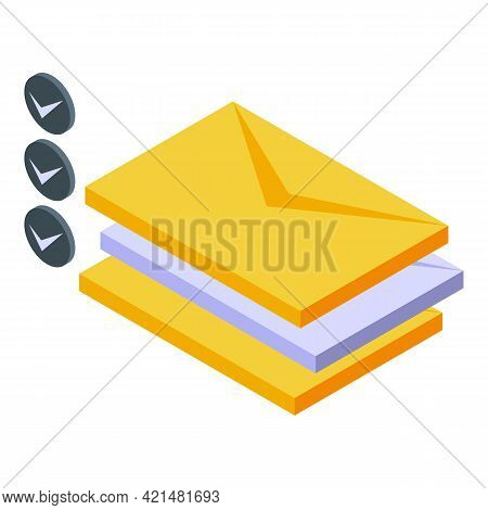 Task Schedule Mail Read Icon. Isometric Of Task Schedule Mail Read Vector Icon For Web Design Isolat