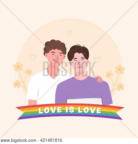 Cute Homosexual Spending Time Together. Lgbtq Community.