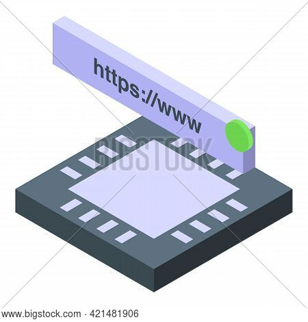 Processor Ssl Certificate Icon. Isometric Of Processor Ssl Certificate Vector Icon For Web Design Is