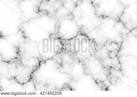 Illustration Natural Black And White Marble Granite Texture Background Pattern For Design Art Work,