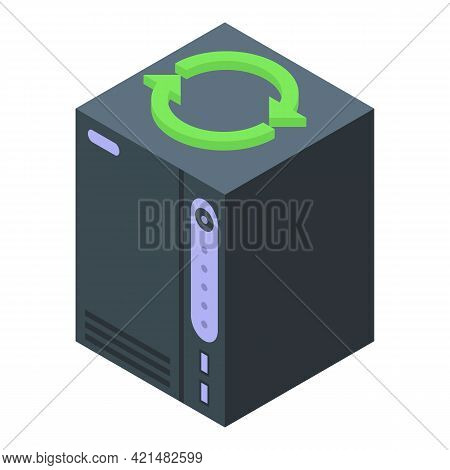 Pc Backup Icon. Isometric Of Pc Backup Vector Icon For Web Design Isolated On White Background