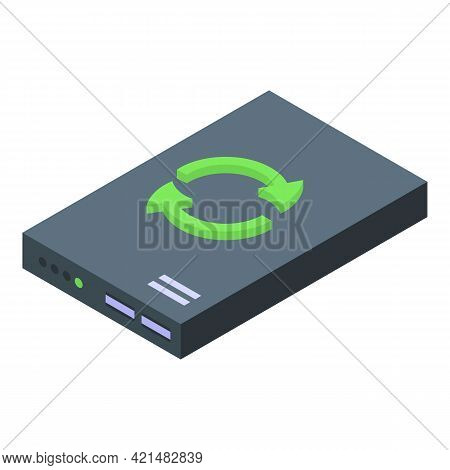 Router Backup Icon. Isometric Of Router Backup Vector Icon For Web Design Isolated On White Backgrou