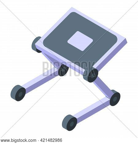Ergonomic Laptop Stand Icon. Isometric Of Ergonomic Laptop Stand Vector Icon For Web Design Isolated