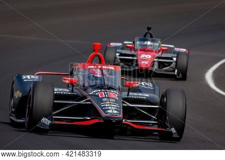 May 20, 2021 - Indianapolis, Indiana, USA: WILL POWER (12) of Toowoomba, Australia practices for the 105th Running Of The Indianapolis 500 at the Indianapolis Motor Speedway in Indianapolis, Indiana.