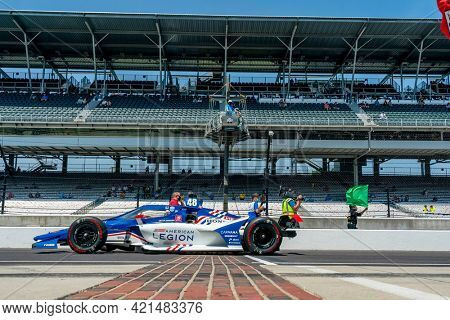 May 20, 2021 - Indianapolis, Indiana, USA: TONY KANAAN (48) of Sao Paulo, Brazil practices for the 105th Running of The Indianapolis 500 at the Indianapolis Motor Speedway in Indianapolis, Indiana.