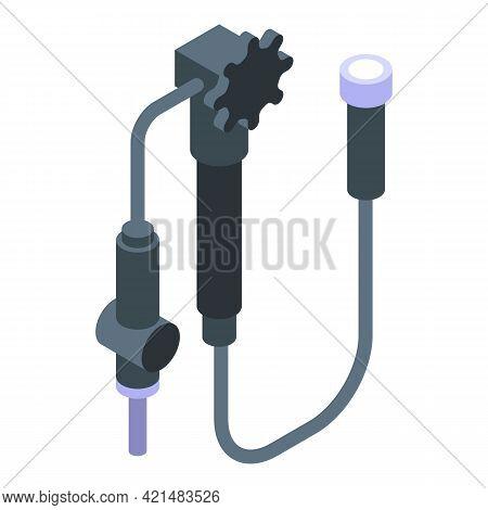 Endoscope Flashlight Icon. Isometric Of Endoscope Flashlight Vector Icon For Web Design Isolated On