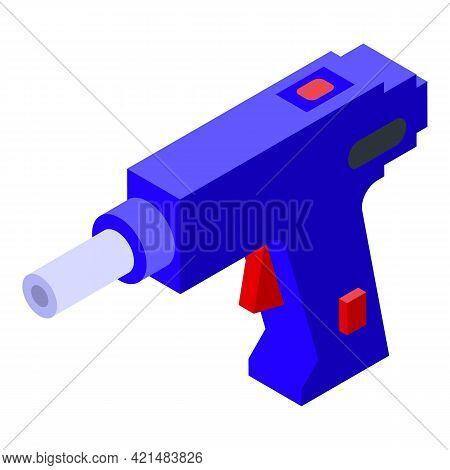 Silicone Caulk Gun Carpenter Icon. Isometric Of Silicone Caulk Gun Carpenter Vector Icon For Web Des