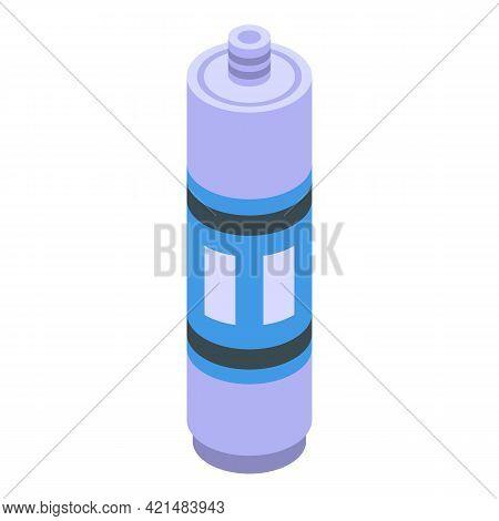Silicone Caulk Cylinder Icon. Isometric Of Silicone Caulk Cylinder Vector Icon For Web Design Isolat
