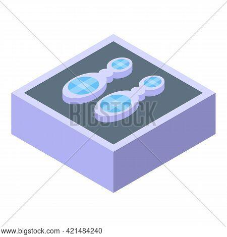 Jewelry Dummy Earrings Icon. Isometric Of Jewelry Dummy Earrings Vector Icon For Web Design Isolated