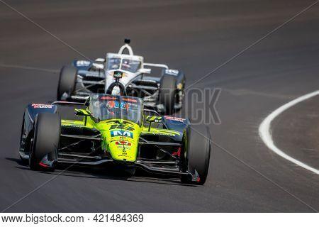 May 20, 2021 - Indianapolis, Indiana, USA: ED JONES (18) of Dubai, United Arab Emirates practices for the 105th Running Of The Indianapolis 500 at the Indianapolis Motor Speedway