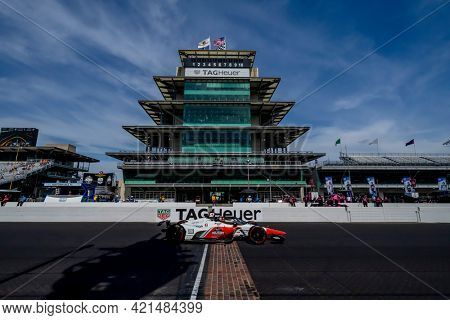 May 21, 2021 - Indianapolis, Indiana, USA: PIETRO FITTIPALDI (R) (51) of Sao Paulo, Brazil practices for the 105th Running Of The Indianapolis 500 at the Indianapolis Motor Speedway