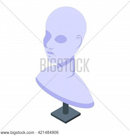 Head Jewelry Dummy Icon. Isometric Of Head Jewelry Dummy Vector Icon For Web Design Isolated On Whit