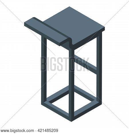 Bar Counter Modern Chair Icon. Isometric Of Bar Counter Modern Chair Vector Icon For Web Design Isol