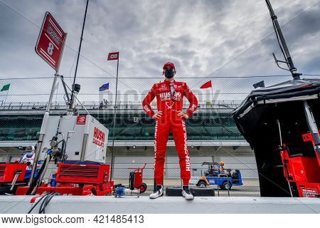 May 19, 2021 - Indianapolis, Indiana, USA: MARCUS ERICSSON (8) of Kumla, Sweden prepares to practice for the 105th Running of The Indianapolis 500 at the Indianapolis Motor Speedway \
