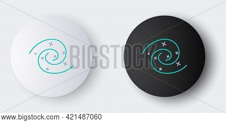 Line Black Hole Icon Isolated On Grey Background. Space Hole. Collapsar. Colorful Outline Concept. V