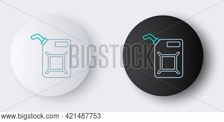 Line Canister For Gasoline Icon Isolated On Grey Background. Diesel Gas Icon. Colorful Outline Conce