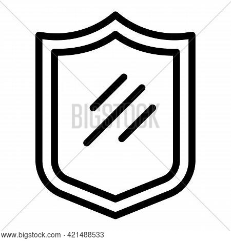 Evacuation Shield Icon. Outline Evacuation Shield Vector Icon For Web Design Isolated On White Backg