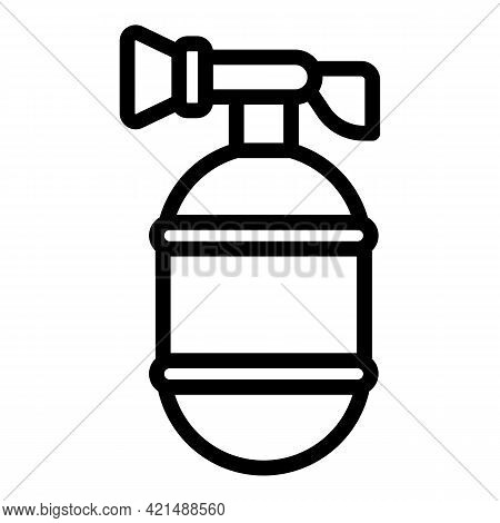 Fire Extinguisher Icon. Outline Fire Extinguisher Vector Icon For Web Design Isolated On White Backg