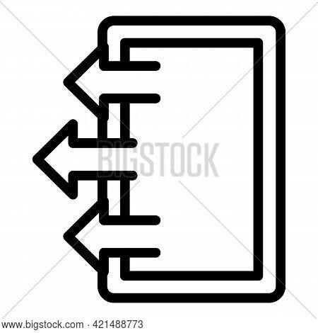 Evacuation Exit Door Icon. Outline Evacuation Exit Door Vector Icon For Web Design Isolated On White