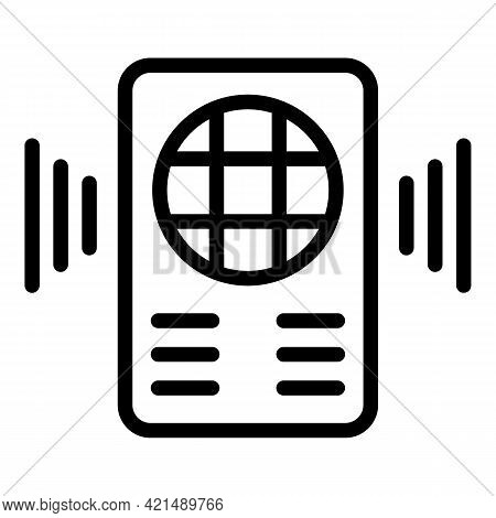 Walkie Talkie Icon. Outline Walkie Talkie Vector Icon For Web Design Isolated On White Background