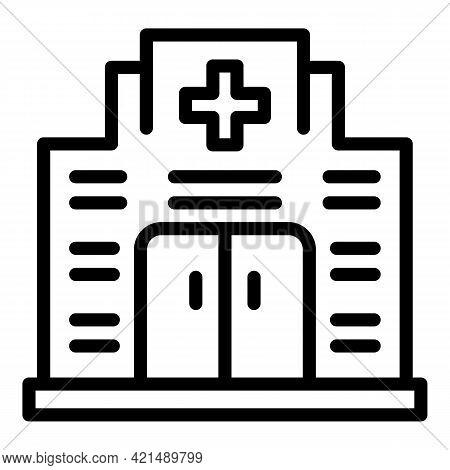 Evacuation Hospital Icon. Outline Evacuation Hospital Vector Icon For Web Design Isolated On White B