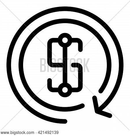 Money Benefit Icon. Outline Money Benefit Vector Icon For Web Design Isolated On White Background