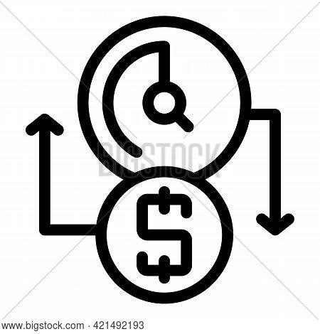 Money Profit Icon. Outline Money Profit Vector Icon For Web Design Isolated On White Background