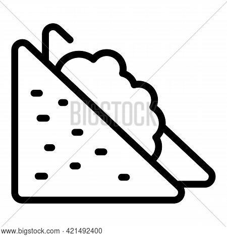 Lunch Sandwich Icon. Outline Lunch Sandwich Vector Icon For Web Design Isolated On White Background