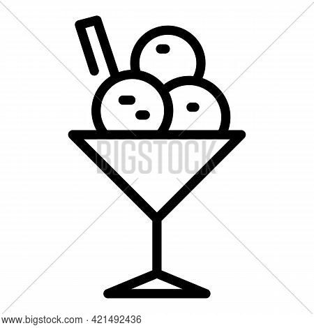 Lunch Dessert Icon. Outline Lunch Dessert Vector Icon For Web Design Isolated On White Background