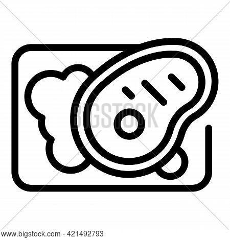 Restaurant Food Icon. Outline Restaurant Food Vector Icon For Web Design Isolated On White Backgroun