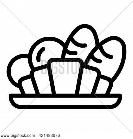 Bakery Lunch Icon. Outline Bakery Lunch Vector Icon For Web Design Isolated On White Background