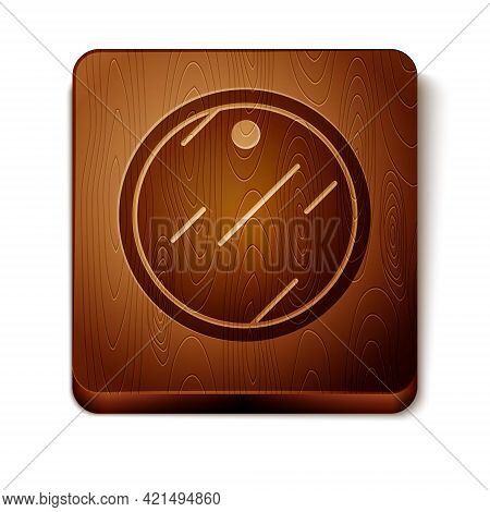 Brown Cutting Board Icon Isolated On White Background. Chopping Board Symbol. Wooden Square Button.