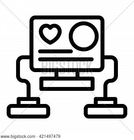 Automated Defibrillator Icon. Outline Automated Defibrillator Vector Icon For Web Design Isolated On