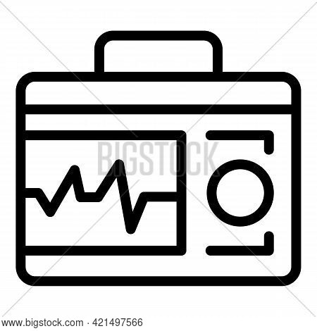 Display Defibrillator Icon. Outline Display Defibrillator Vector Icon For Web Design Isolated On Whi