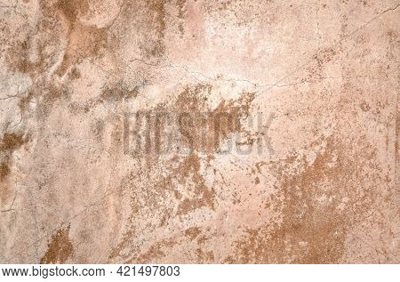 yellow brown dirty mildewed wall background with grunge texture