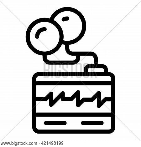 Pacemaker Defibrillator Icon. Outline Pacemaker Defibrillator Vector Icon For Web Design Isolated On