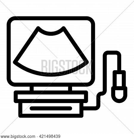 Ultrasound Research Icon. Outline Ultrasound Research Vector Icon For Web Design Isolated On White B