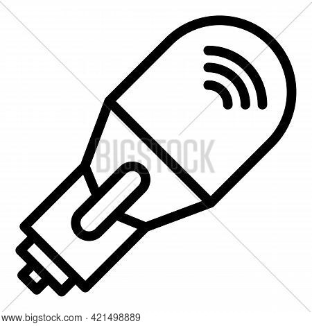 Wireless Ultrasound Icon. Outline Wireless Ultrasound Vector Icon For Web Design Isolated On White B