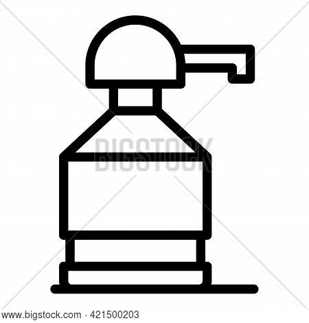 Drinking Pump Bottle Icon. Outline Drinking Pump Bottle Vector Icon For Web Design Isolated On White
