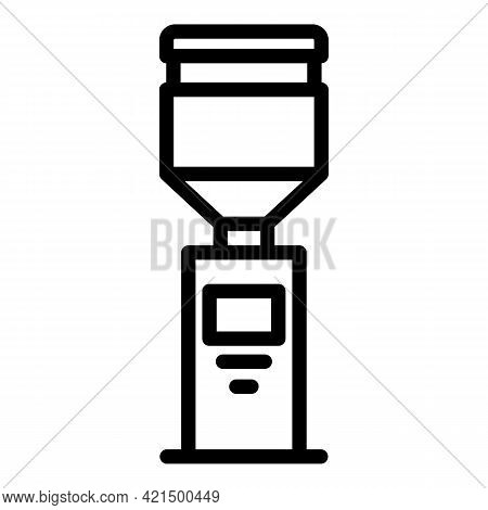 Drinking Cooler Icon. Outline Drinking Cooler Vector Icon For Web Design Isolated On White Backgroun