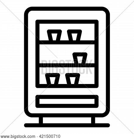 Beverage Appliance Icon. Outline Beverage Appliance Vector Icon For Web Design Isolated On White Bac