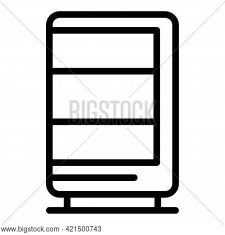 Soda Vending Machine Icon. Outline Soda Vending Machine Vector Icon For Web Design Isolated On White