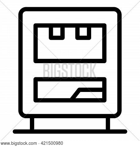 Bar Vending Machine Icon. Outline Bar Vending Machine Vector Icon For Web Design Isolated On White B