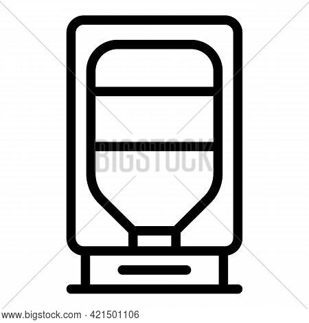 Purified Aqua Cooler Icon. Outline Purified Aqua Cooler Vector Icon For Web Design Isolated On White