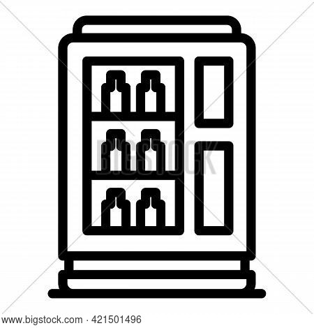 Mineral Water Machine Icon. Outline Mineral Water Machine Vector Icon For Web Design Isolated On Whi